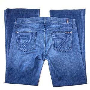 7FAM Dojo Wide Leg Flare Jeans in Peking